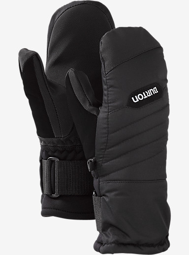 Burton Youth Support Mitt shown in True Black