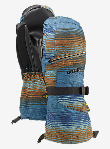 Burton Kids' Vent Mitt shown in Glacier Beach Stripe