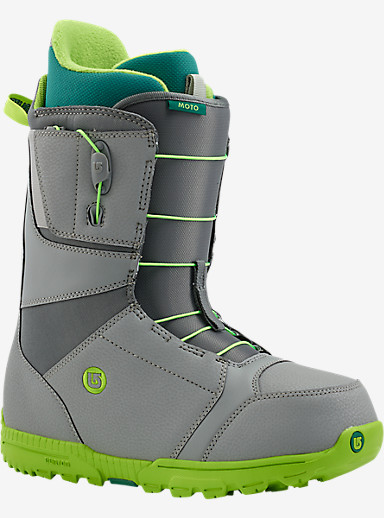 Burton Moto Snowboard Boot shown in Gray / Green