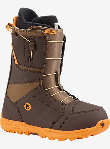 Burton Moto Snowboard Boot shown in Brown / Orange