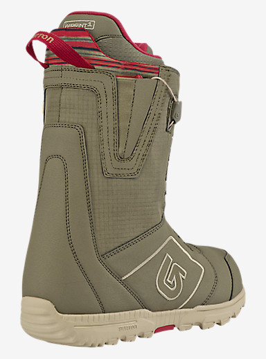 Burton Moto Snowboard Boot shown in Khaki / Print