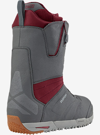 Burton Ruler Snowboard Boot shown in Gray / Burgundy