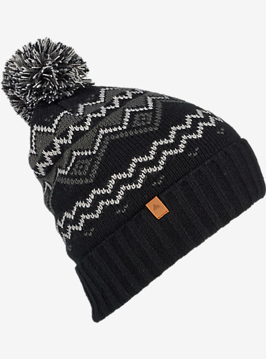 Burton Mountain Man Beanie shown in True Black