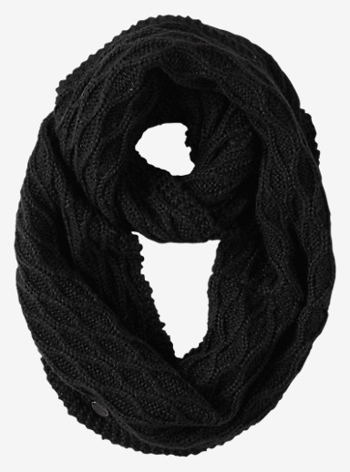 Burton Honeycomb Infinity Scarf shown in True Black