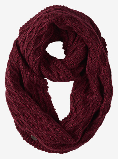 Burton Honeycomb Infinity Scarf shown in Sangria