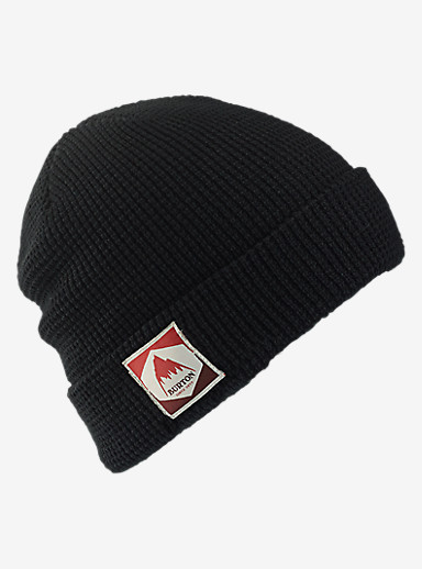 Burton Waffle Beanie shown in True Black
