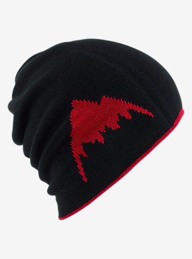 Burton Billboard Slouch Beanie - Reversible shown in Process Red / True Black