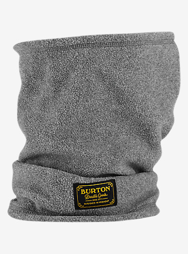 Burton Ember Fleece Neck Warmer shown in Dark Ash Heather