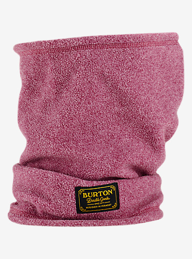 Burton Ember Fleece Neck Warmer shown in Sangria Heather
