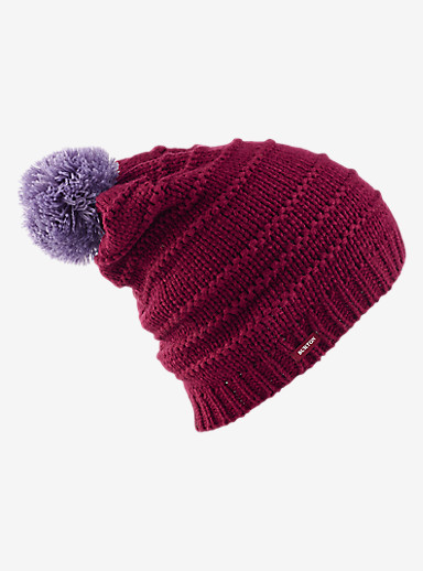 Burton Candystripe Beanie shown in Sangria