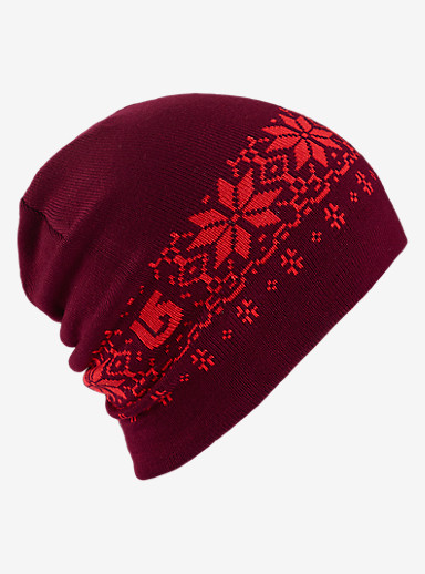 Burton Belle Beanie - Reversible shown in Coral / Sangria