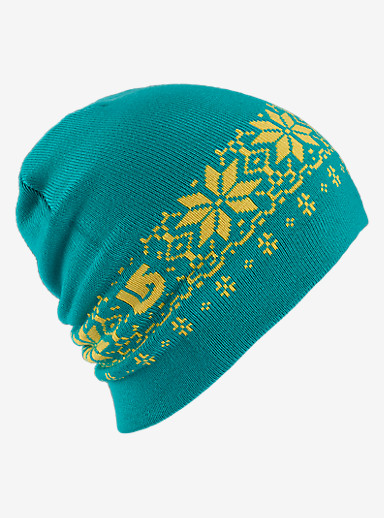 Burton Belle Beanie - Reversible shown in Lemon Drop / Everglade