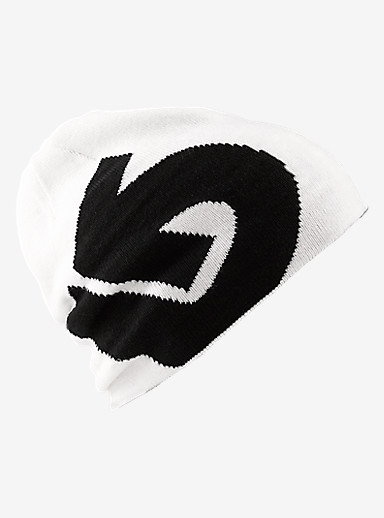 Burton Boys' Billboard Beanie - Reversible shown in True Black / Stout White