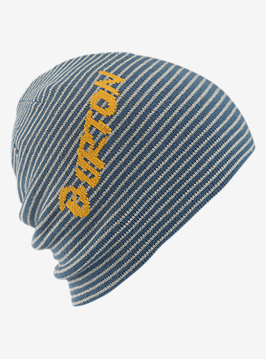 Burton Boys' Marquee Beanie - Reversible shown in Washed Blue / Iron Gray
