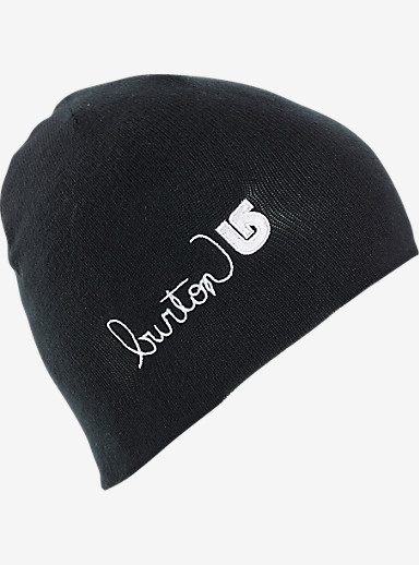 Burton Girls' Belle Beanie shown in True Black / Stout White