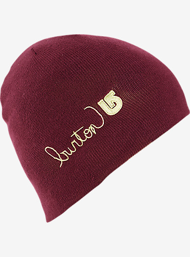 Burton Girls' Belle Beanie shown in Sangria / Sunny Lime