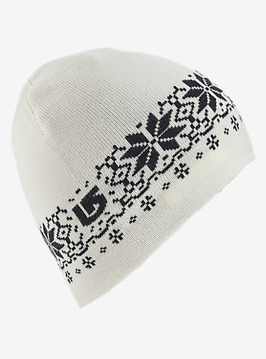 Burton Girls' Belle Reversible Beanie shown in True Black / Stout White