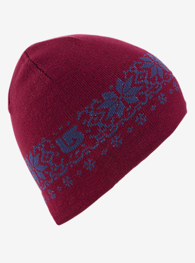 Burton Girls' Belle Reversible Beanie shown in Grapeseed / Sorcerer