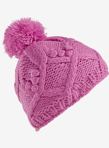 Burton Girls' Chloe Beanie shown in Super Pink
