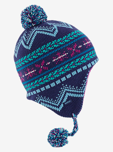 Burton Girls' Cocoa Earflap Beanie shown in Spellbound