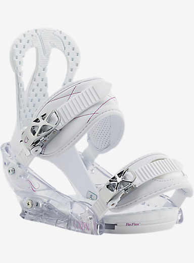 Burton Citizen Snowboard Binding shown in White