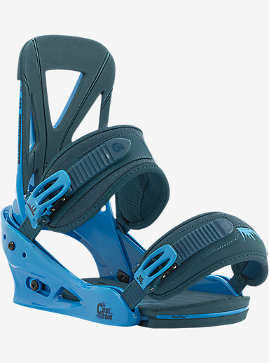 Burton Custom Snowboard Binding shown in Blue Denim