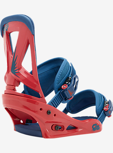Burton Custom Snowboard Binding shown in Radish