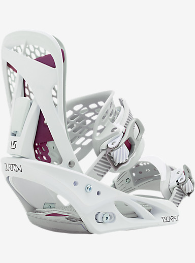 Burton Escapade Snowboard Binding shown in White