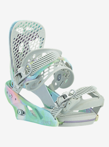 Burton Escapade Snowboard Binding shown in Shifty White