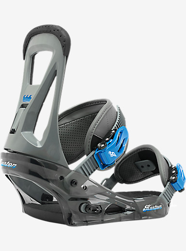 Burton Freestyle Snowboard Binding shown in Smoke