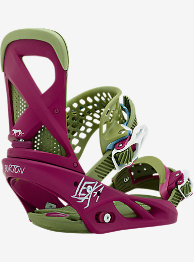 Burton Lexa Snowboard Binding shown in Moss Burgundy