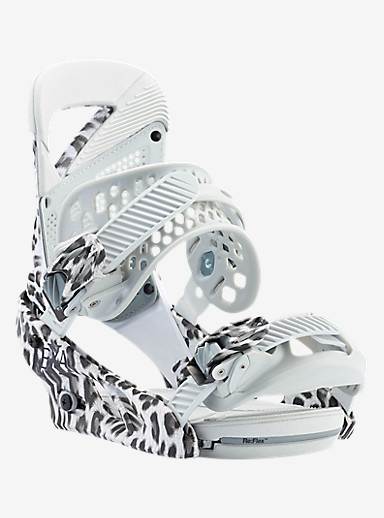 Burton Lexa Snowboard Binding shown in Snow Leopard