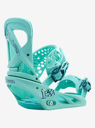 Burton Lexa Snowboard Binding shown in The Teal Deal