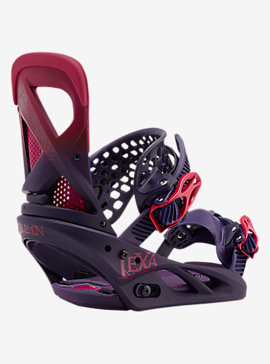Burton Lexa Snowboard Binding shown in Feelgood Purple