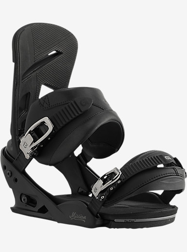 Burton Mission Snowboard Binding shown in Black