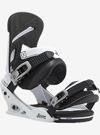 Burton Mission Snowboard Binding shown in That's White
