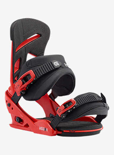 Burton Mission Snowboard Binding shown in El Rojo