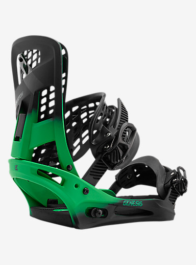 Burton Genesis Snowboard Binding shown in Green Fade