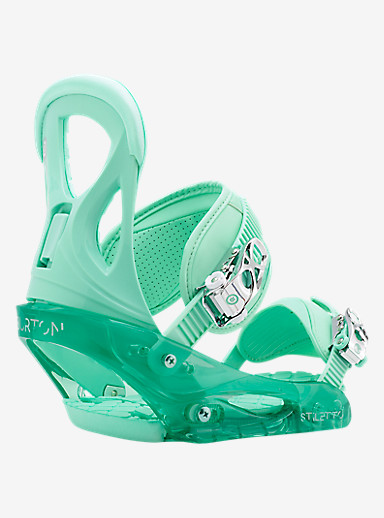 Burton Stiletto Snowboard Binding shown in Spearmint