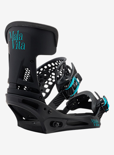 Burton Malavita Snowboard Binding shown in Black Wing