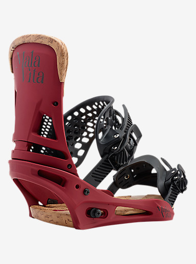 Burton Malavita Snowboard Binding shown in Wino