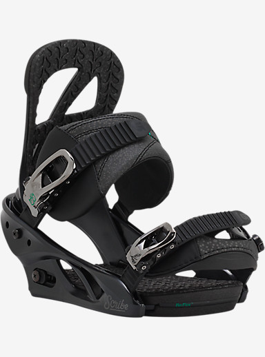 Burton Scribe Snowboard Binding shown in Black