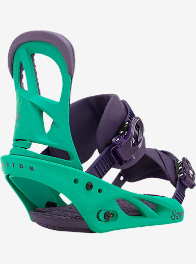 Burton Scribe Snowboard Binding shown in 50 Shades of Green