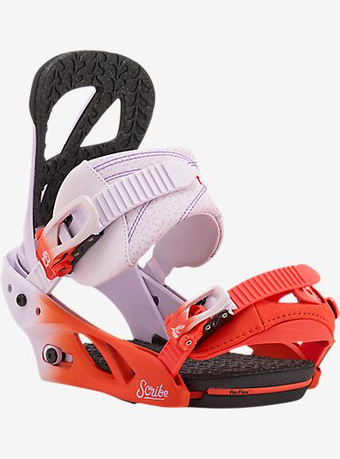 Burton Scribe Snowboard Binding shown in Bloodshot