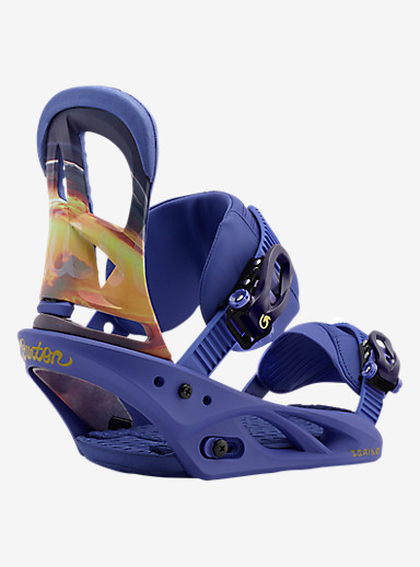 Burton Scribe Snowboard Binding shown in Sunset Socialite