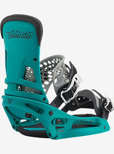 Burton Malavita EST Snowboard Binding shown in Real Recognize Teal