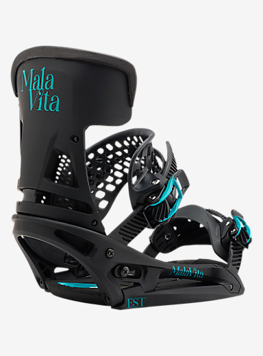 Burton Malavita EST Snowboard Binding shown in Black Wing