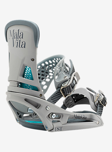 Burton Malavita EST Snowboard Binding shown in Grayed Out