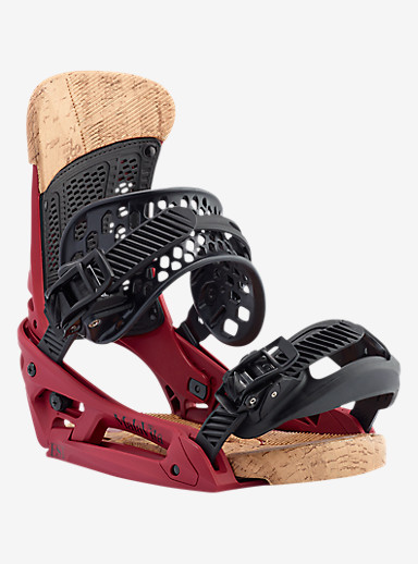 Burton Malavita EST Snowboard Binding shown in Wino