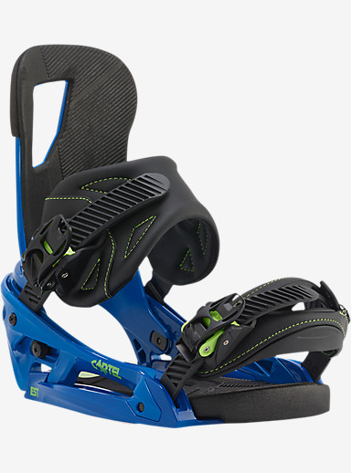 Burton Cartel EST Snowboard Binding shown in Switchback Blue
